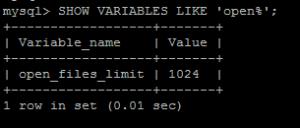 MySQL Open_File_Limit